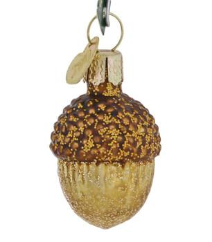 Mini - Small Acorn Glass Ornament