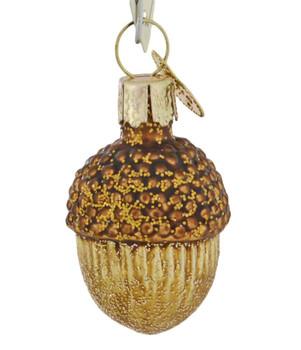 Mini - Small Acorn Glass Ornament back