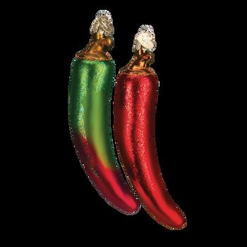 Chili Pepper Glass Ornament