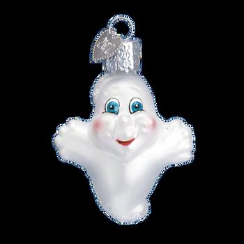 Mini Ghost Halloween Glass Ornament