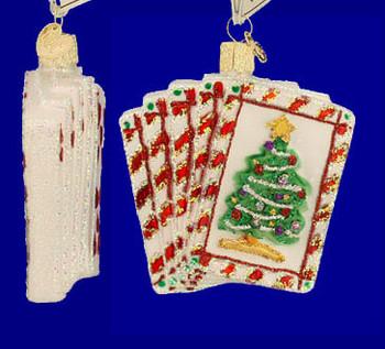 Poker Royal Flush Old World Christmas Glass Ornament 44035 inset