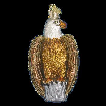 Bald Eagle Glass Ornament