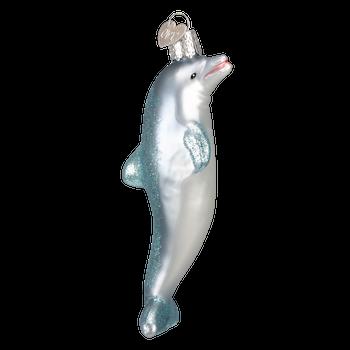 Dolphin Glass Ornament