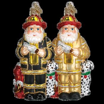 Fireman Glass Ornament