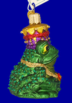 Fairy Tale Frog King Glass Ornament Side