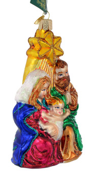 Holy Family Nativity Star Glass Ornament by Old World Christmas 10132 right side