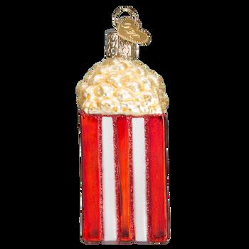Movie Popcorn Glass Ornament Side