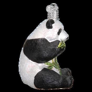 Panda Glass Ornament Side