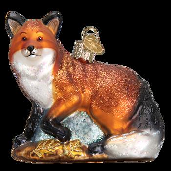 Red Fox Glass Ornament