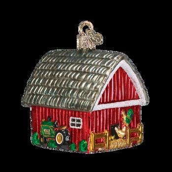 Barn Glass Ornament side back