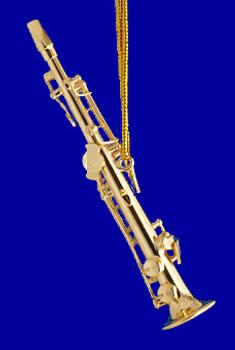 Soprano Saxophone Ornament Miniature Soprano Sax 3.25 Brass inset