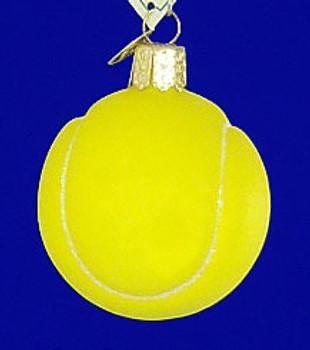 Tennis Ball Old World Christmas Glass Ornament 44013