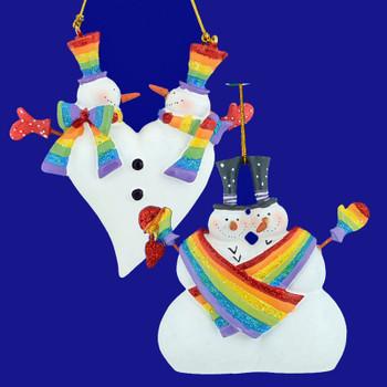Same Sex Rainbow Couple Ornaments