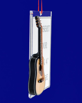 Picture Frame Acoustic Guitar Gift Christmas Ornament side
