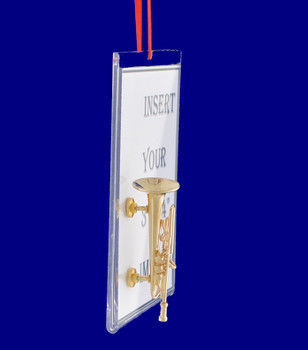 Trumpet Picture Frame Gift Christmas Ornament side