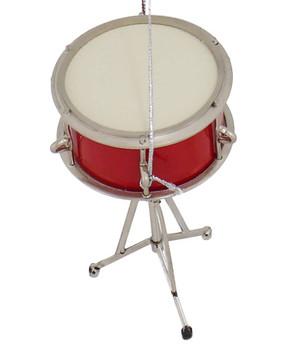 Mini Snare Drum Ornament w/Stand top