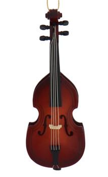 Mini Upright Bass Ornament, Bass Fiddle - Wood