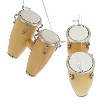 Mini Conga Drums Ornament - Double Conga side top