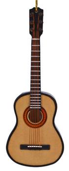 Mini Folk Guitar Ornament - Wood