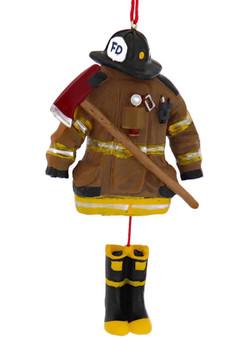 Dangling Boots Firefighter Uniform Ornament