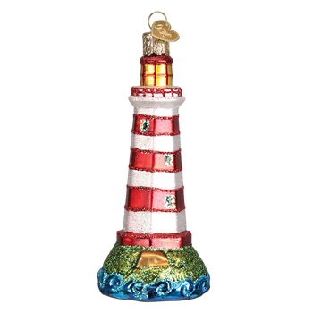 Sambro Lighthouse Glass Ornament
