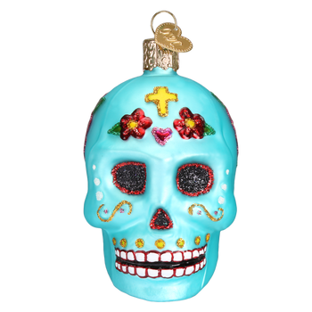 Day Of The Dead Glass Ornament