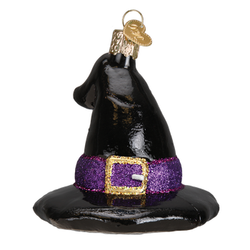 Witch's Hat Glass Ornament