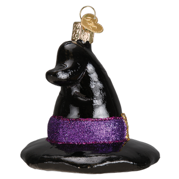 Witch's Hat Glass Ornament side