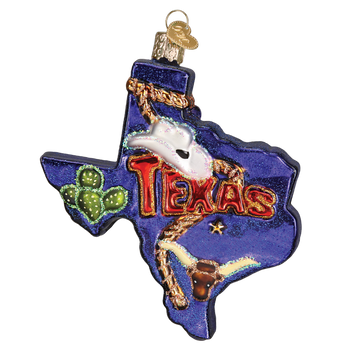 State of Texas Glass Ornament