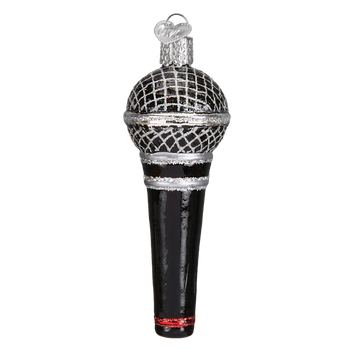 Microphone Glass Ornament side