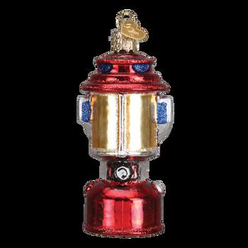Camping Lantern Glass Ornament