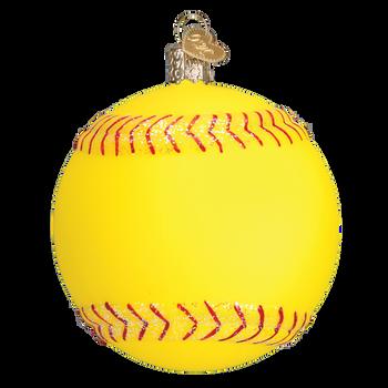 Softball Glass Ornament side 1