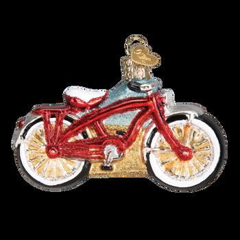 Cruiser Bike Glass Ornament