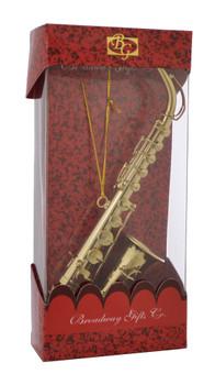 Alto Saxophone Ornament Mini Sax 6 Gold Metal Large with box