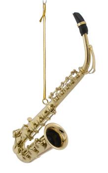 """Mini Alto Saxophone Ornament - Gold Metal,  6"""" Large #BG2312"""