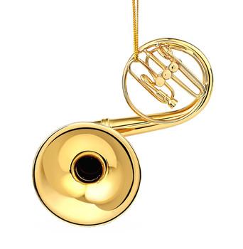 Mini Sousaphone Ornament - Gold Metal