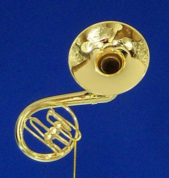Sousaphone Ornament Mini Sousaphone Gold 4 Metal Medium