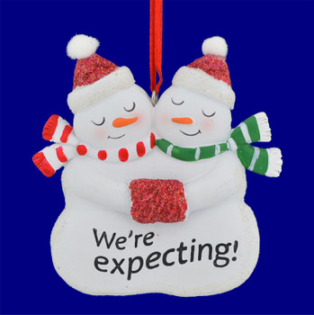 Pregnacy We are Expecting Christmas Ornament 111023