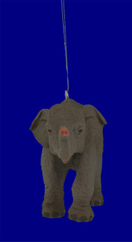 Baby Asian Elephant Ornament inset front