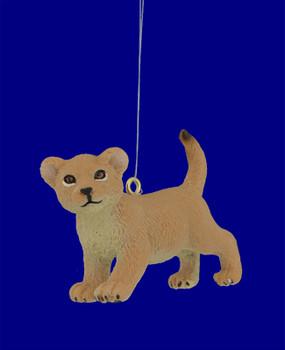 Mini Baby Lion Ornament inset front