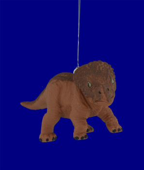Mini Baby Triceratops Dinosaur Ornament inset front