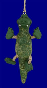 Comical Alligator Ornament inset front