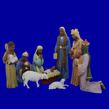 Ebony Black Nativity Set