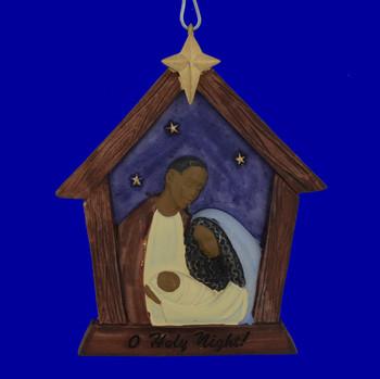 African American Nativity Ornament