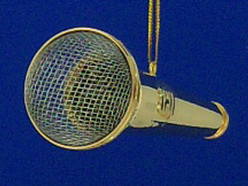 Microphone Ornament Mini Microphone Gold 4 inset