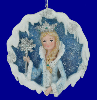Frosted Kingdom The Snow Queen Ornament with wand