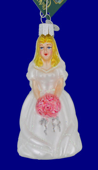 Blond Bride Old World Christmas Glass Ornament 10227