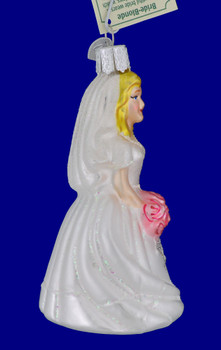 Blond Bride Old World Christmas Glass Ornament 10227 inset