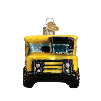 Toy Dump Truck Glass Ornament front