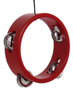 Mini Tambourine Ornament - Red